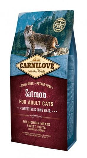 Carnilove Salmon Sensitive & Long Hair 6kg