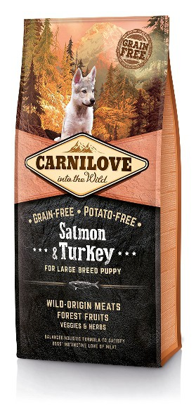 Carnilove Salmon & Turkey Puppy Large Breed 12KG