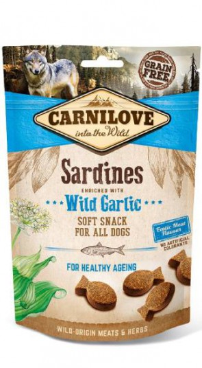 Carnilove Soft Snack Sardine met knoflook 200gr